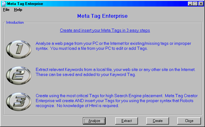 Meta Tag Enterprise Screenshot