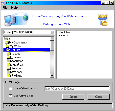 The Html Directory Screenshot