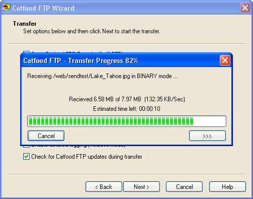 Catfood FTP Wizard Screenshot 1