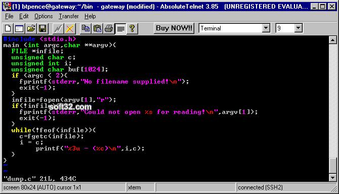 AbsoluteTelnet Telnet / SSH Client Screenshot 2