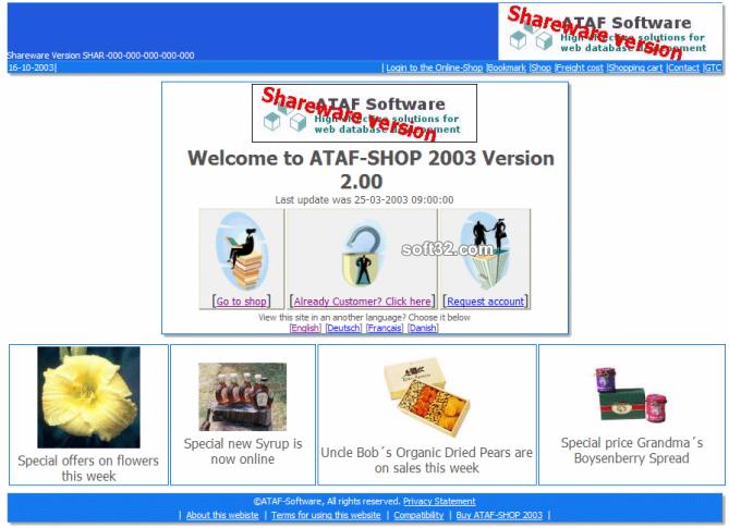 ATAF-SHOP Screenshot