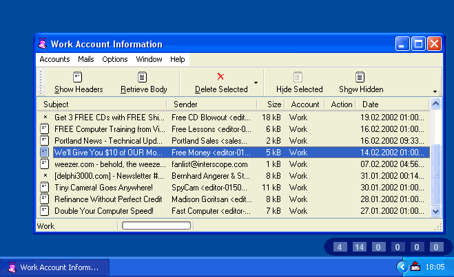 ANT 4 MailChecking SE2000 Screenshot