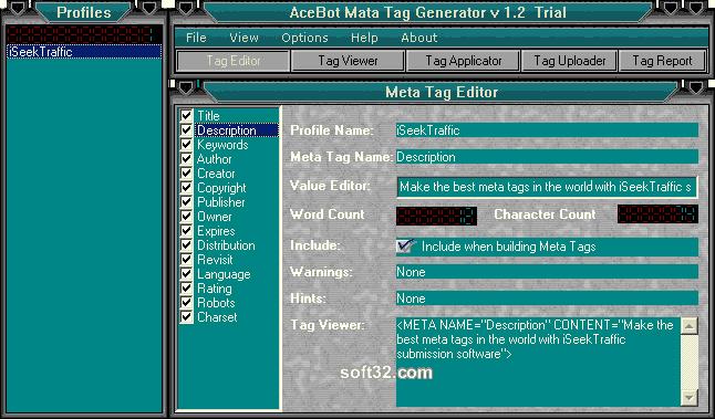 AceBot Metatag Generator Screenshot 3