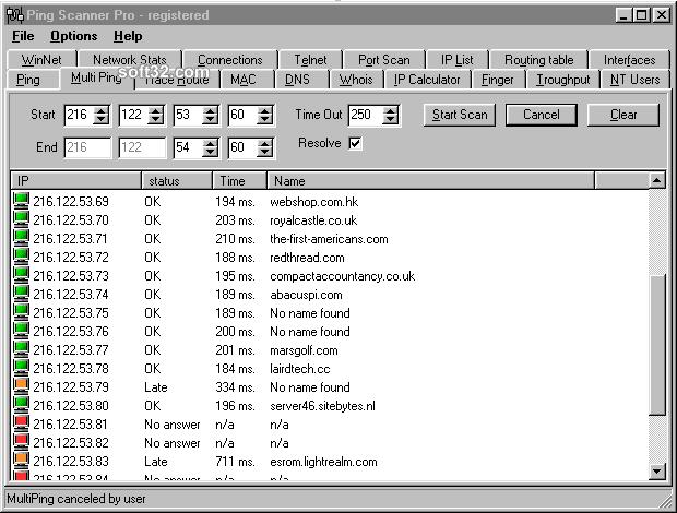 Ping Scanner Pro Screenshot 2