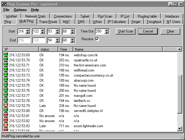 Ping Scanner Pro Screenshot
