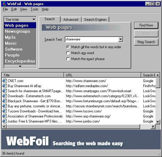 WebFoil Screenshot 1
