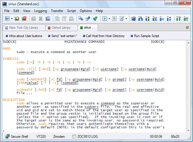 ZOC Terminal V7 (SSH Client and Telnet) Screenshot 1