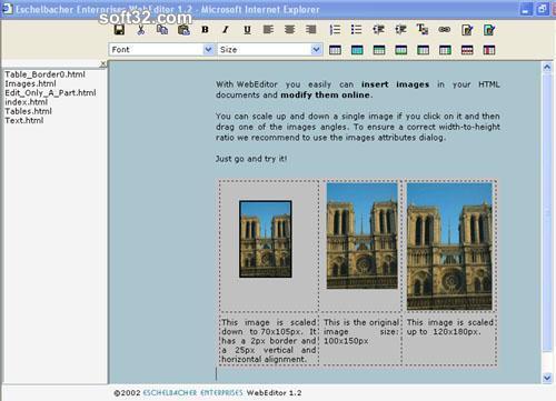 Eschelbacher Enterprises WebEditor Screenshot 3