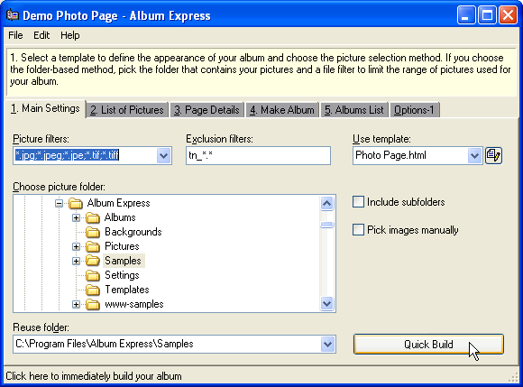 Album Express Screenshot