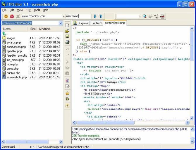 FTPEditor Screenshot 2