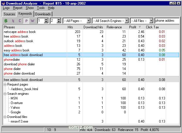 Download Analyzer Screenshot 3