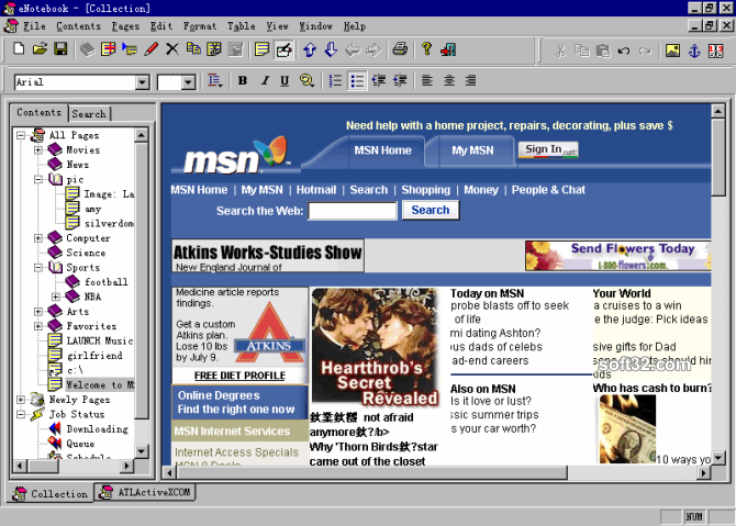 eNotebook Screenshot