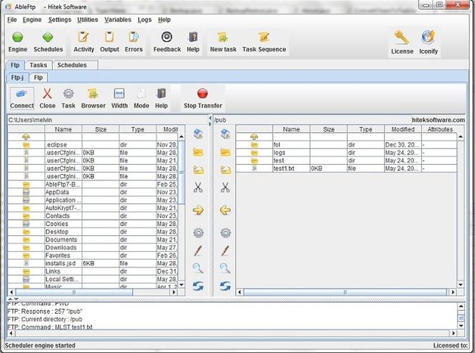 AbleFTP Screenshot 1
