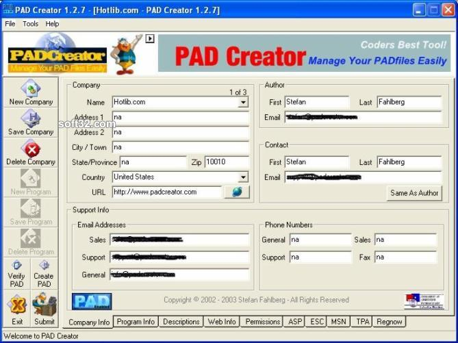 PAD Creator Screenshot 4