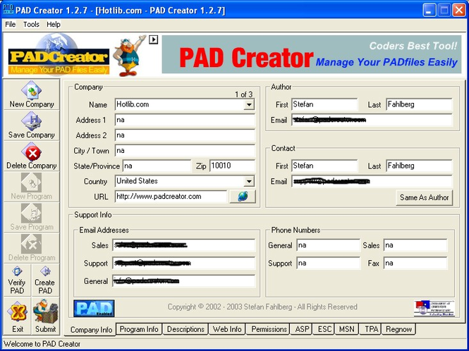 PAD Creator Screenshot 1