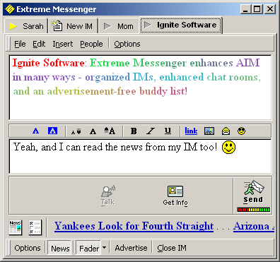 Extreme Messenger for AIM Screenshot 1
