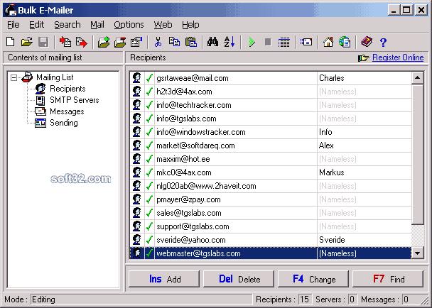 Bulk Email mailer Screenshot 2