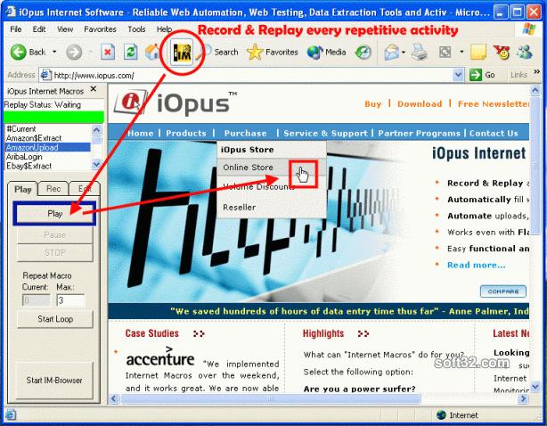 iMacros Web Automation and Web Testing Screenshot 3