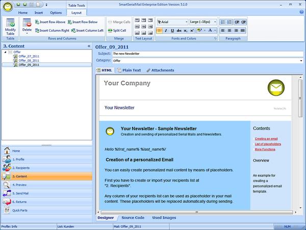 SmartSerialMail Screenshot