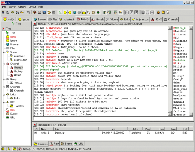 .IRC Screenshot