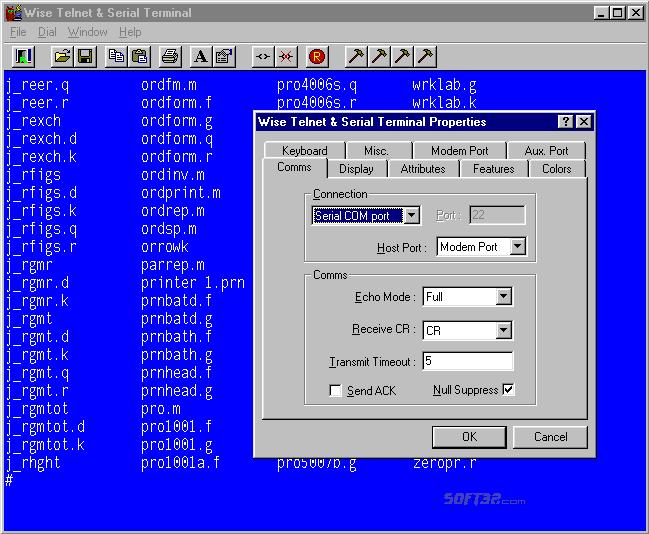 Wise Telnet & Serial Terminal Screenshot 2