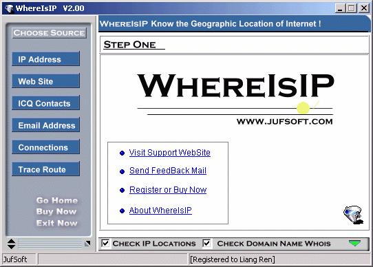 WhereIsIP Screenshot