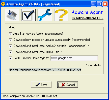 Adware Agent Screenshot