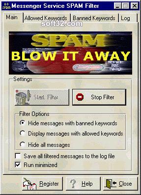 Messenger Service SPAM Filter Screenshot 2