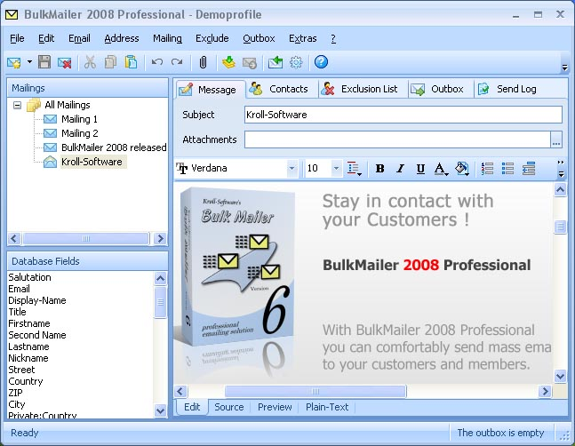 BulkMailer Professional Screenshot 3
