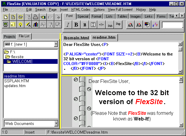 FlexSite Screenshot