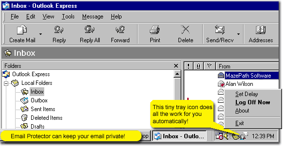 Email Protector Screenshot