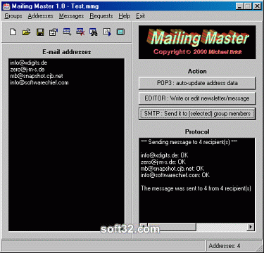 Mailing Master Screenshot 1