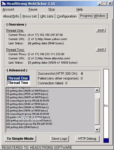 HeadStrong WebClicker Screenshot 2
