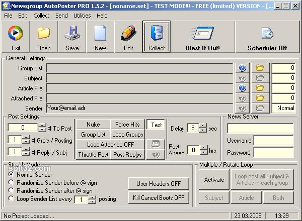 Newsgroup AutoPoster PRO Screenshot 2