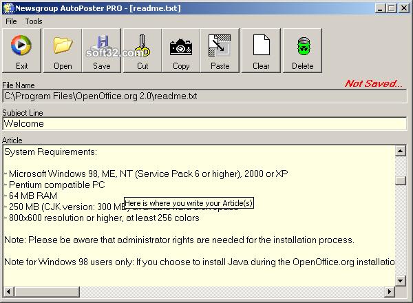 Newsgroup AutoPoster PRO Screenshot 3