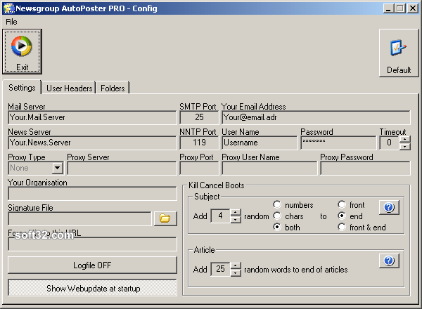 Newsgroup AutoPoster PRO Screenshot 5