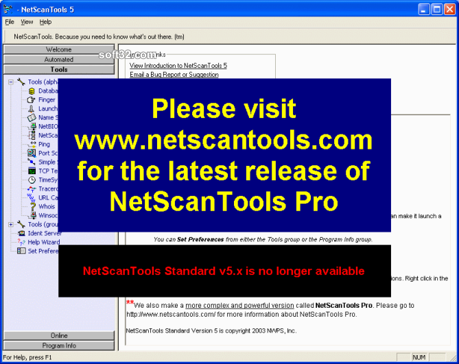 NetScanTools Screenshot 2