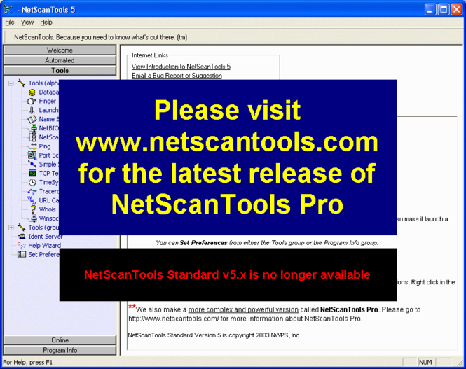 NetScanTools Screenshot