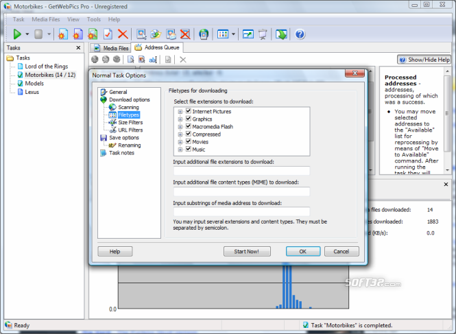 GetWebPics Pro Screenshot 4