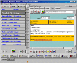 Internet Organizer Deluxe Screenshot