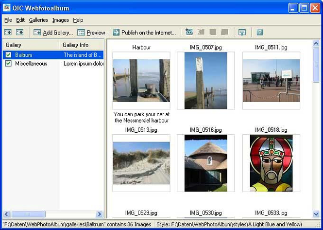 QIC Webfotoalbum Screenshot