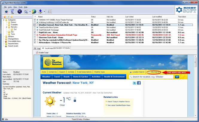 Right Web Monitor Screenshot 1