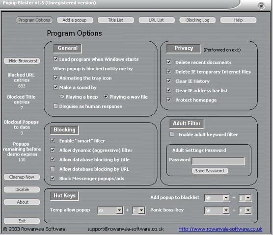 Popup Blaster Screenshot 1
