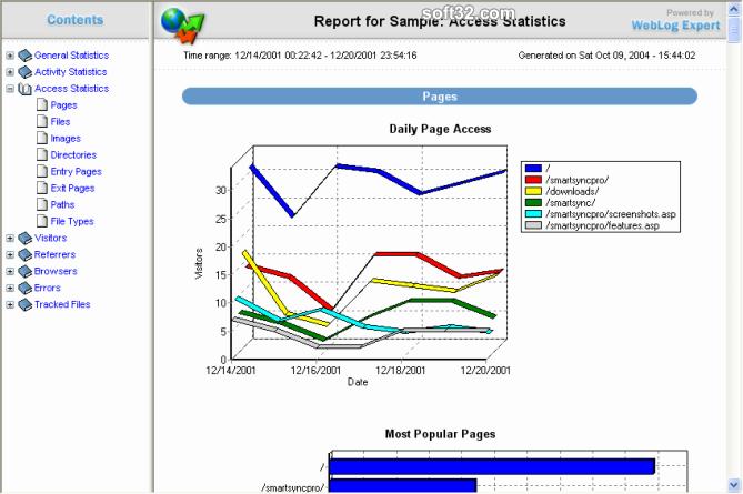 WebLog Expert Lite Screenshot 3