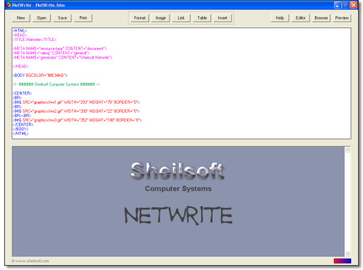 NetWrite Screenshot