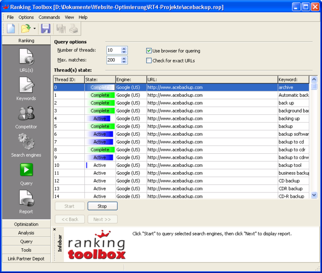 Ranking Toolbox Screenshot 1