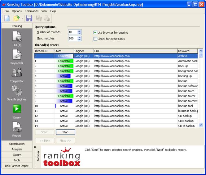 Ranking Toolbox Screenshot