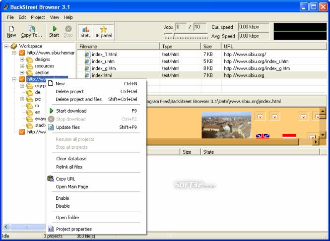 BackStreet Browser Screenshot 2
