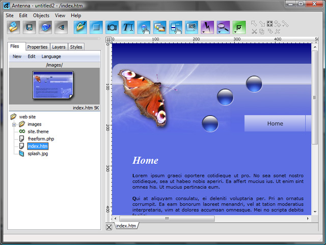 Antenna - Web Design Studio Screenshot 1