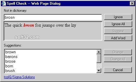 Web Browser Spell Check Screenshot 1
